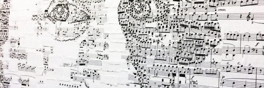 高野隼人Hayato Takano 用樂譜神奇地拼貼出天才音樂家莫札特!